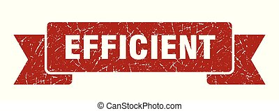 efficient grunge ribbon. efficient sign. efficient banner