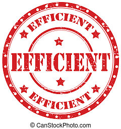 Efficient-stamp - Grunge rubber stamp with word...