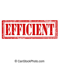 Efficient-stamp - Grunge rubber stamp with text Efficient, ...