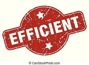 efficient vintage stamp. efficient sign