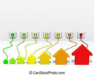 efficienza, energia, concept.