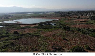 Drone shot of Effluent reservoir