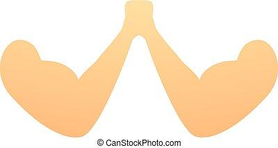 Effort arm wrestling icon, cartoon style - Effort arm ...