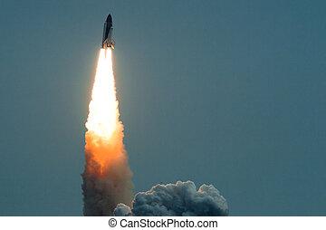 effort, lancement fusée