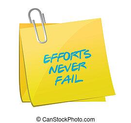 effort never fail post illustration design