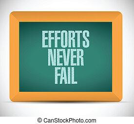 efforts never fail message illustration design