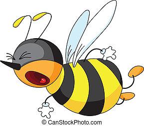 effrayé, abeille