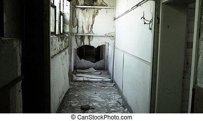 effrayant, abandonnés, spooky, terrifiant, sale, intérieur