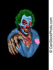 effrayant, clown