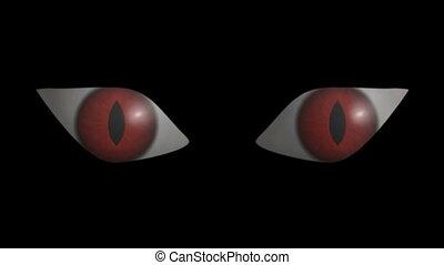 effrayant, eyes., hd, cg.