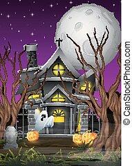 effrayant, halloween, fond