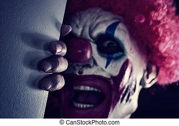 effrayant, mal, clown
