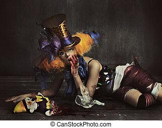 effrayant, monstre, clown