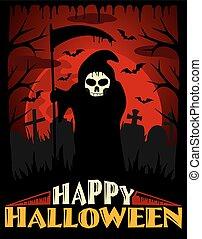 effrayant, vecteur, halloween, fond