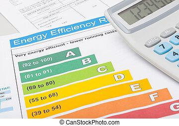 eficiência, energia, limpo, mapa, calculadora