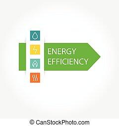 eficiencia, energía, logotipo