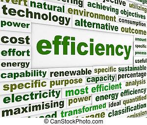 eficiencia, mensaje, tecnológico