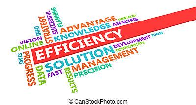 eficiencia, palabra, nube