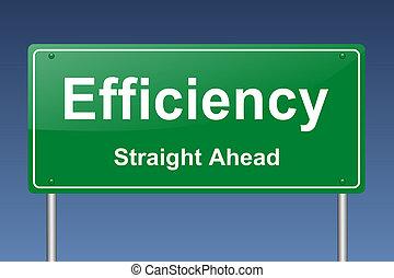 eficiencia, señal de tráfico