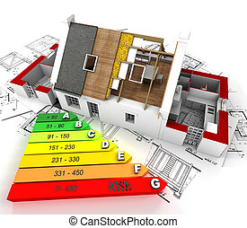 eficiente, energia, construção