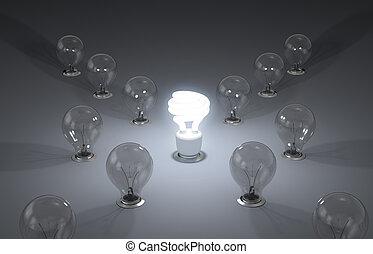 eficiente, novo, energy., idéias
