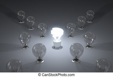 eficiente, nuevo, energy., ideas