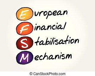 EFSM acronym, business concept background - EFSM - European...