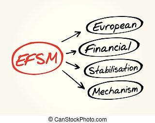EFSM - business concept background