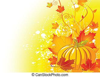 efterår, card, sted
