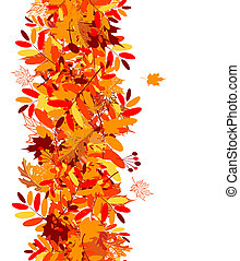 efterår forlader, seamless, baggrund