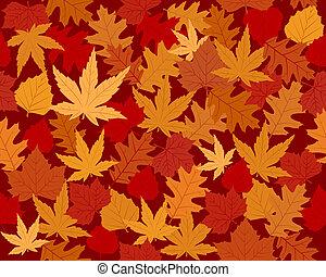 efterår forlader, tapet, vibrantly, farvet