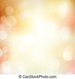 efterår, lys, abstrakt, bokeh, prik, baggrund, fald, blurry