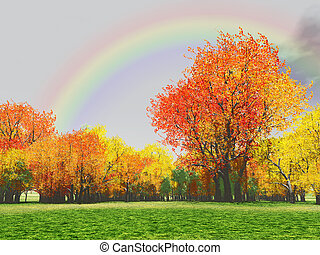 efterår, sceneri