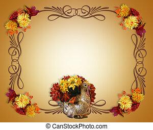 efterår, taksigelse, baggrund, fald