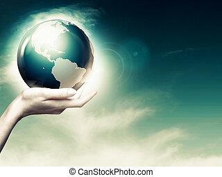 egész, elvont, háttér, környezeti, világ, kézbesít, -e