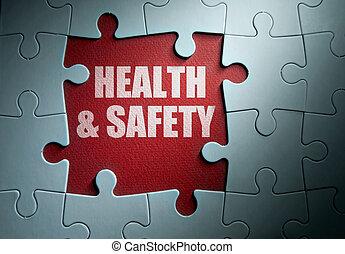 egészség, biztonság