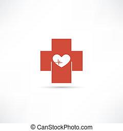 egészség, ikon