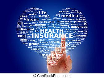 egészség, insurance.