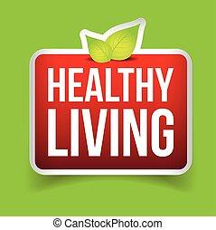egészséges élénk, gombol, vektor, piros