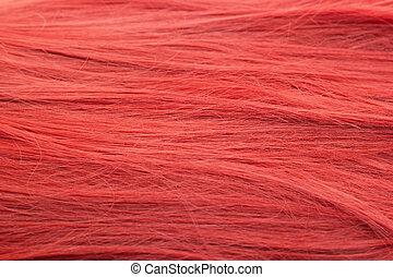 egészséges, és, gyönyörű, piros szőr