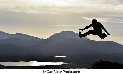 egészséges, aktivál, élénk, dinamikus, emberek