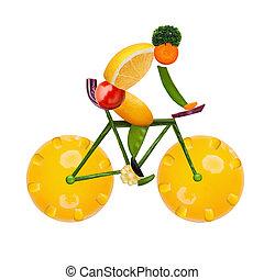 egészséges, cyclist.
