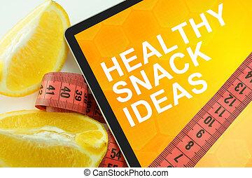 egészséges falatozás, gondolat