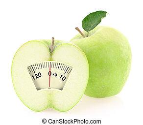 egészséges, fogyaszt, diéta