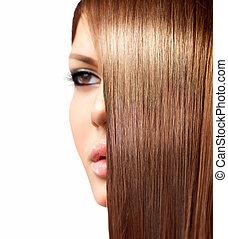 egészséges, hosszú szőr