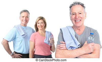 egészséges, idősebb ember, emberek.