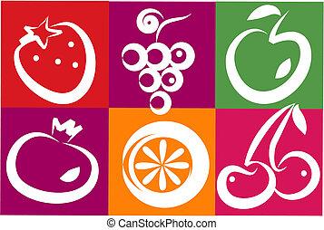 egészséges, nyár gyümölcs
