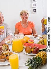 egészséges, senior woman