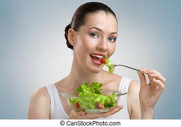 egészséges táplálék, étkezési