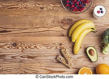 egészséges táplálék, zenemű